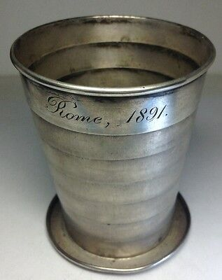 Rare 1890 GORHAM Sterling Silver Collapsible Cup Foldable AWESOME