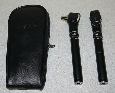 Welch Allyn 211/128 PocketScope Otoscope Ophthalmoscope Diagnostic Kit w/Handles