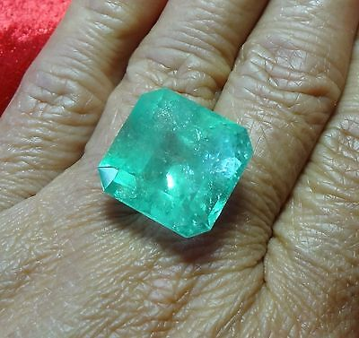 Huge**30.27Ct Natural Colombian Emerald Muzo Mine Loose Stone