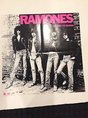 Ramones Rocket To Russia Sire Promo Poster Display Clash Sex Pistols Punk