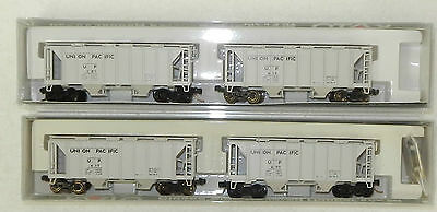 4 x Kato N Scale Union Pacific ACF 70 Ton Covered Hoppers