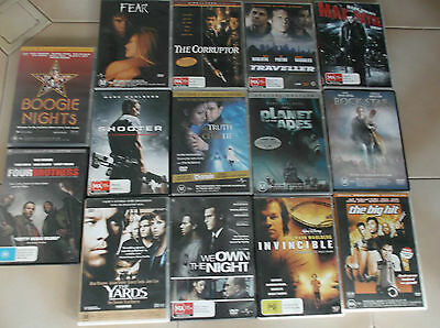 dvds-bulk lot- mark wahlbers 10 assorted titles-or $5 per movie