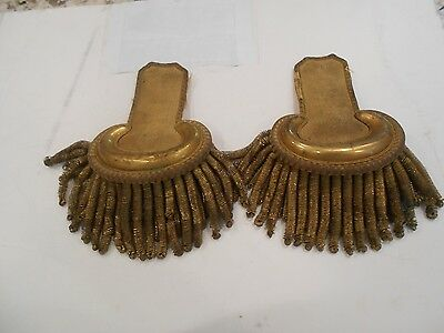 Pair of Civil War Era Large Gold Epaulettes - complete and fine