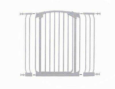 Dreambaby Chelsea Xtra Tall Security Gate & Extension Set (White)
