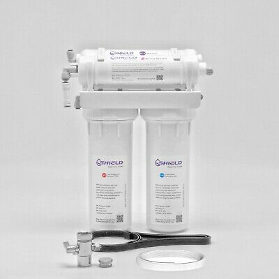 4 stage 75GPD Wall Mount Reverse Osmosis Water Filter System RO Filters + DIVERT
