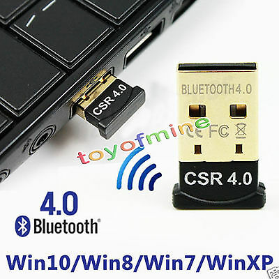 Mini USB 2.0 Bluetooth V4.0 Dongle Wireless Adapter For PC Laptop 3Mbps Speed