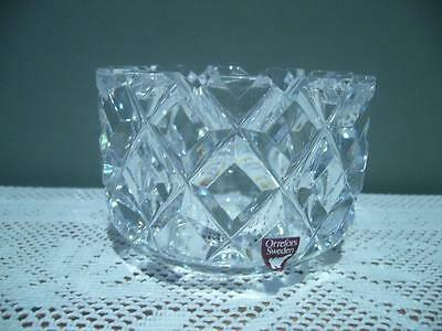 Stunning Heavy Orrefors Signed Small Crystal Bowl - Sofiero - Tiny Flea Bite