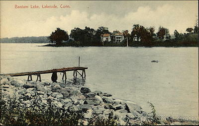 Lakeside CT Bantam Lake Litchfield County Connecticut Karl Brothers Divided Back