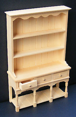 1:12 Scale Natural Finish 3 Drawer Dresser Dolls House Miniature Accessory 06
