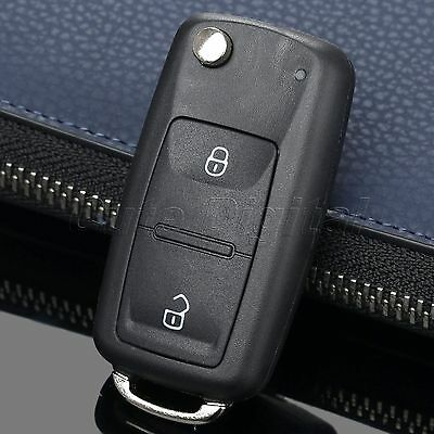 Remote Car Key Fob Shell Case 2 Button Floding Flip For  POLO GOLF Transporter