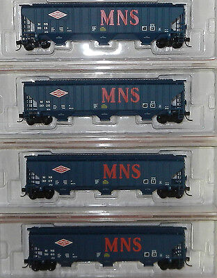 4 x InterMountain N Scale Minneapolis, Northfield & Southern Covered Hoppers