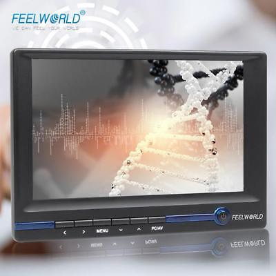 "FEELWORLD 7"" TFT LCD HD Monitor w/HDMI VGA AV Input for Video DSLR Camera H8Q4"