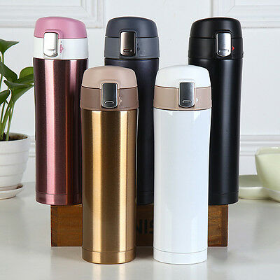 500ML Travel Mug Tea Coffee Water Vacuum Cup Thermos Bottle Stainless Steel
