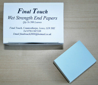 Final Touch Wet Strength Perm End Papers 1x500 Leaves