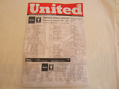 2006-07 FA YOUTH CUP SHEFFIELD UNITED v LIVERPOOL