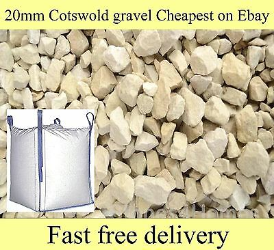 20mm Cotswold Buff Chippings Gravel Stone for 900kg Bulk Bags