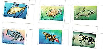 Central African Republic - Marine Life, Fish, 2000 - Sc 1315-20 Set of 6 MNH