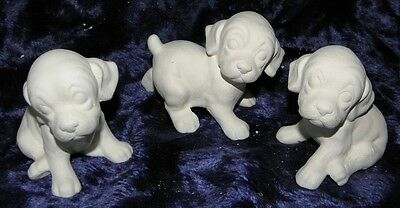 Ceramic Bisque Ready to Paint 3 x Little Puppies