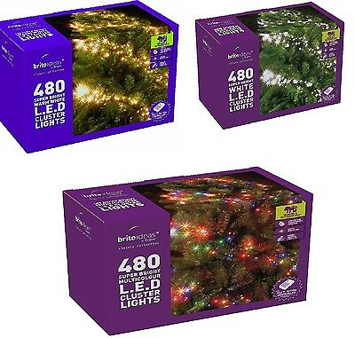 480 LED Chaser Cluster Christmas tree Light String Indoor Outdoor multi function
