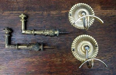 2 Pairs of Vintage French Coat Hooks / Wall Hooks