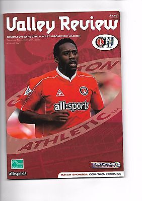 2002/3 Charlton Athletic v West Bromwich Albion football programme