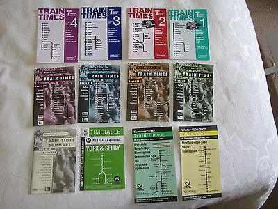 (12) - 1994,1997,2000 Yorkshire railway timetable booklets