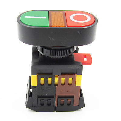 Red Green Power Light Indicator Momentary Switch Start Stop Push Button