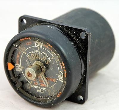 Ammunition round counter for RAF aircraft, 1942 dated (GB1)