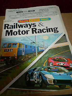 TRIANG/HORNBY MODEL RAILWAYS TOY CATALOGUE 1968 14th EDITION P/LIST EXCELLENT