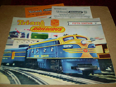 TRIANG MODEL RAILWAYS TOY CATALOGUE 1959 5th EDITION +P/LIST EXCELLENT