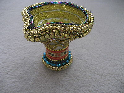 Fancy Beaded Pot