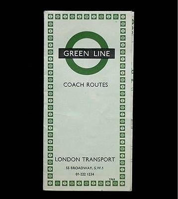 1969 Green Line Coach Route Map