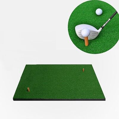 New Golf Practice Mat 125*100cm Chipping Driving Range Training Aid W/Rubber Tee