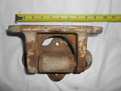 Antique Large Heavy Cast Iron Hinge ~ 4 Bolt Pattern ~ 2 Piece With Pin
