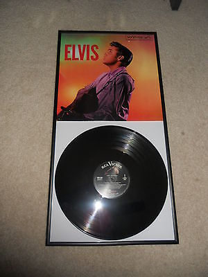 Framed Elvis 1956 Remaster Limited Edition, Unplayed, MONO,Glass Frame The King!