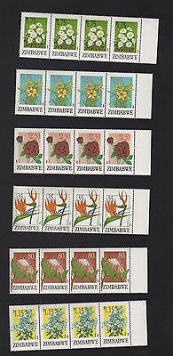 Zimbabwe 1994 Export Flowers Blocks  Mnh