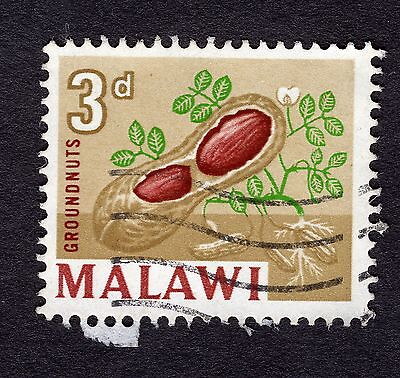 1964 Malawi 3d Ground nuts SG 218 FINE Used R30294