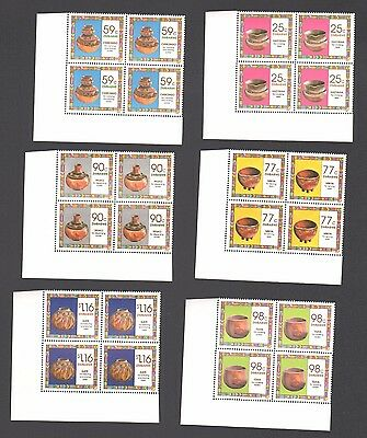 Zimbabwe 1993 Traditional Household Pottery  Pots Jars Blocks  Mnh