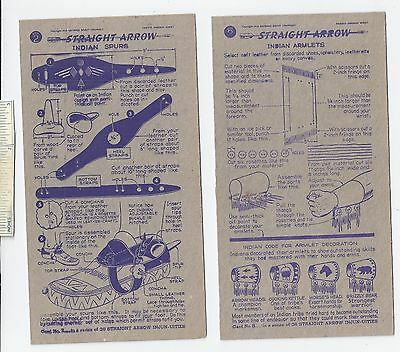 #19 Lot of 6 Diff 1950 NABISCO INJUN-UITY Cards Book #2 Cereal Straight Arrow