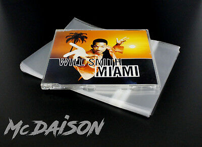 McDAISON 50pz Busta richiudibile x custodie CD single jewelcase musicali SOTTILI