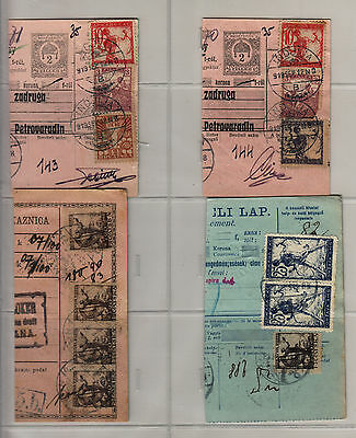 Yugoslavia - Issue Slovenia GREAT COLL. 4pc BILL OF DELIVERY cutting-out #57