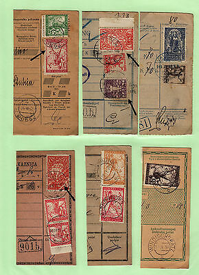 Yugoslavia - Issue Slovenia GREAT COLL. 6pc BILL OF DELIVERY cutting-out #42