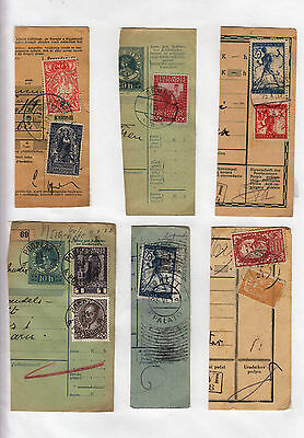 Yugoslavia - Issue Slovenia GREAT COLL. 6pc BILL OF DELIVERY cutting-out #46
