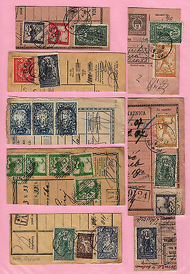 Yugoslavia - Issue Slovenia GREAT COLL. 8pc BILL OF DELIVERY cutting-out #45