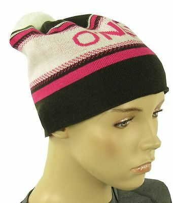 O'Neill Hat Pompom Hat Beanie Knitted Cap WHITE BROWN SHOCKING PINK Logo