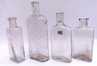 Whiskey Flask Lot of 4 - Baltimore, New York