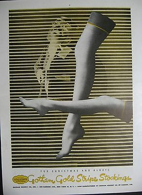 1945 Gotham Gold Stripe Stockings & White Judy Bond Blouse (2 sided page)