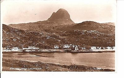 Suilven from lochinver 1950's postcard