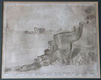 Arthur Pond – Rome and St Peter's, Original 18thC engraving after Claude Lorrain