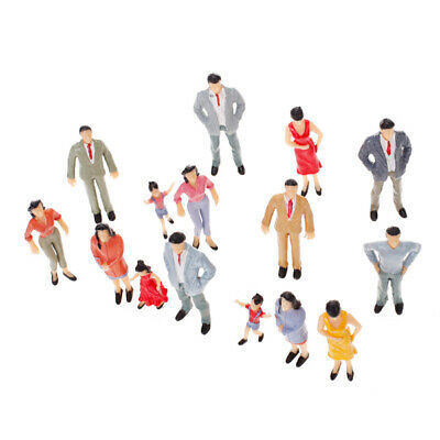 20pcs Painted Model Train station scene Passenger People Figure Mixed Poses 1:25